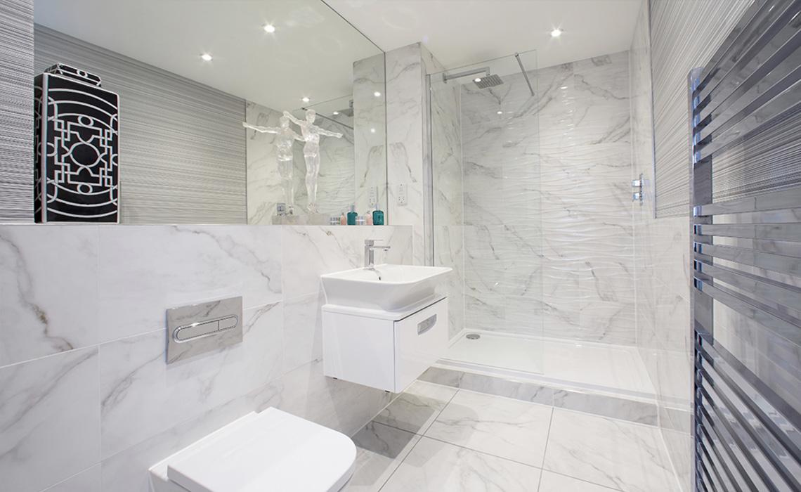 Bathroom Installation at 825 Wilmslow Rd Development – Didsbury