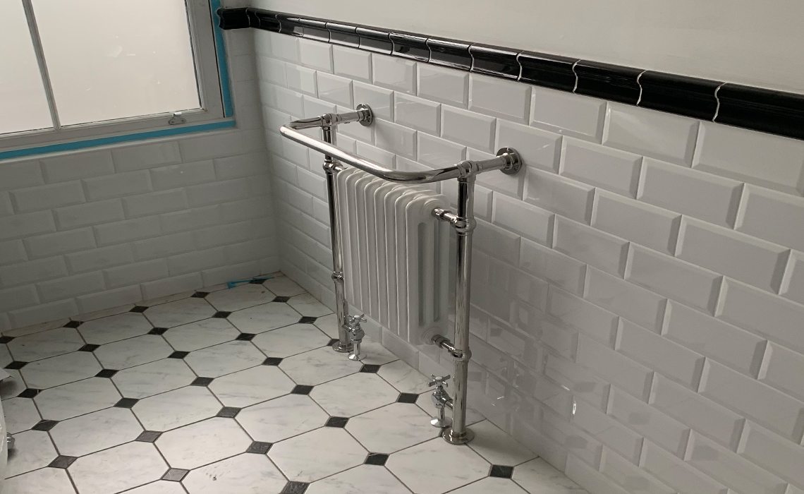 Full Central Heating with Designer Radiators – Prestwich